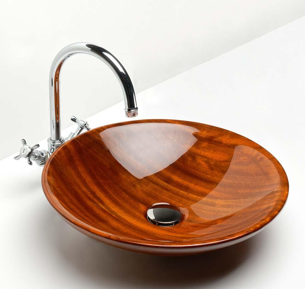 Vasque Montaigne polymiroir en Iroko